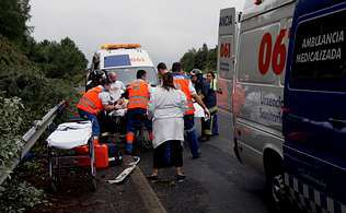 El accidente se produjo en la AP-9, a la altura de Cambre, el pasado 10 de julio | cesar quián