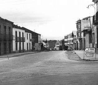 Cruce de las carreteras de Ferrol y de Viveiro con la de A Coruña y Oviedo