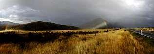 Imagen del Parque Nacional de Arthur's Pass, una enorme franja natural, con lagos y montañas, situada en la Isla Sur de Nueva Zelanda, que se corresponde en su antípoda exacta con buena parte de Berga