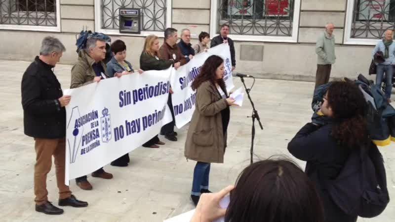 Concentración de periodistas en el Obelisco por el día de la Libertad de Prensa