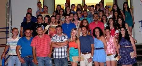 Los casi cincuenta jóvenes brioneses disfrutaron tanto del día como de la noche de Andalucía.