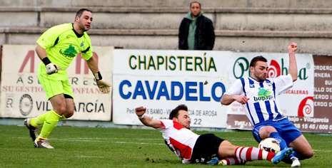 Adrián Camiño estuvo entre algodones durante la semana pero se ha rcuperado y formará parte del equipo titular ante el Verín.
