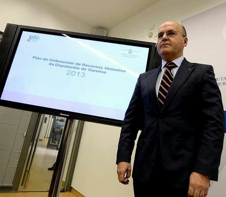 Baltar dio a conocer esta semana el plan de ajuste de la Diputación ourensana.