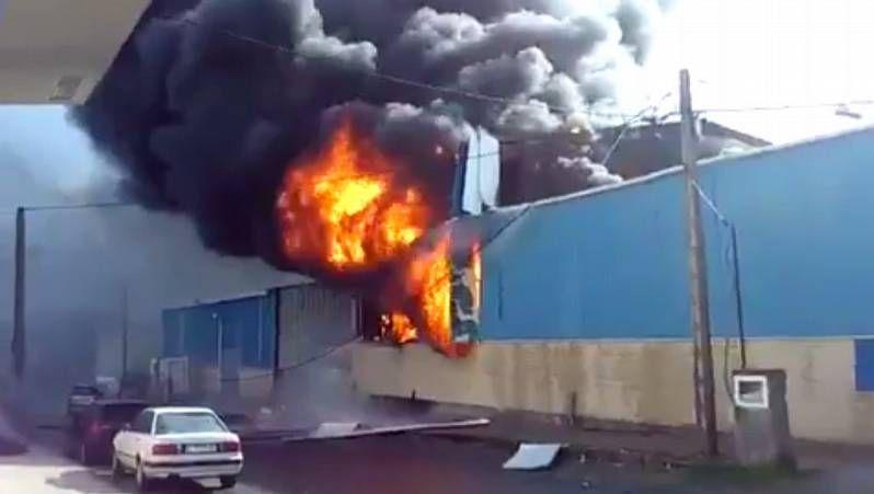 Explosión en una nave en Ferrol