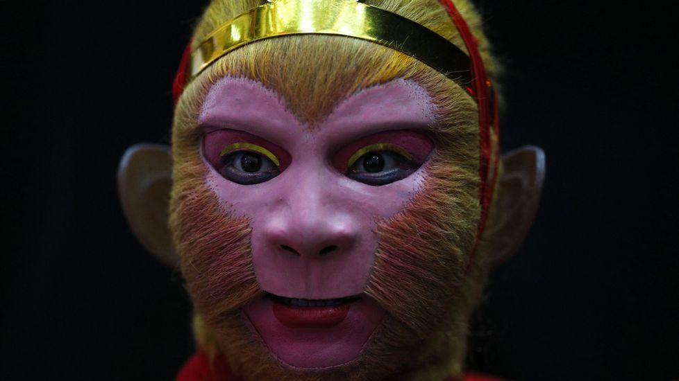 El personaje de la literatura clásica china Sun Wukong, el Rey Mono, en el que está basado Son Goku