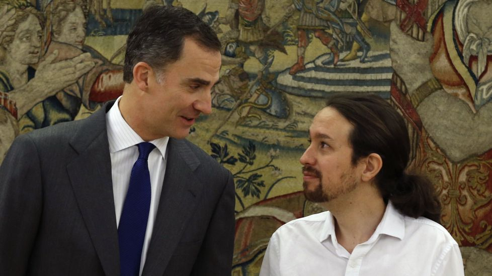 Felipe VI e Iglesias el 22 de enero.