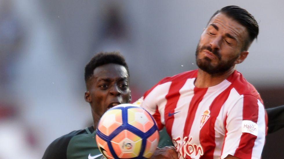Xavi Torres, en el partido contra el Athletic