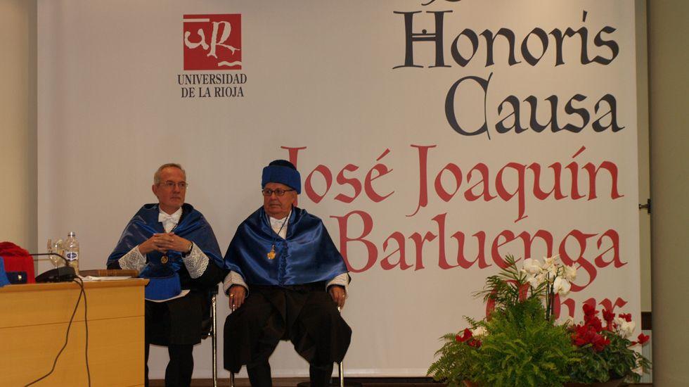José Barluenga, doctor honoris causa de la Universidad de La Rioja