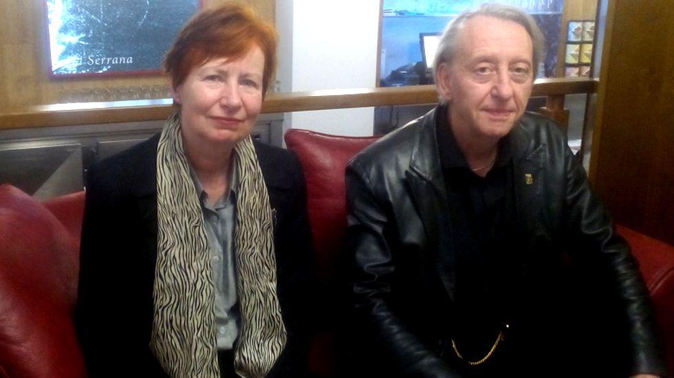 Mary y Bryan Talbot, en Avilés