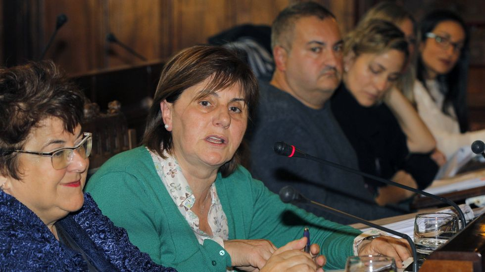 Pilar Varela, en la Junta