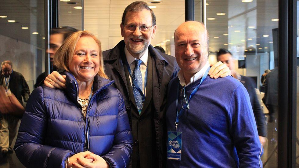 Mercedes Fernández, Mariano Rajoy y Luis Venta