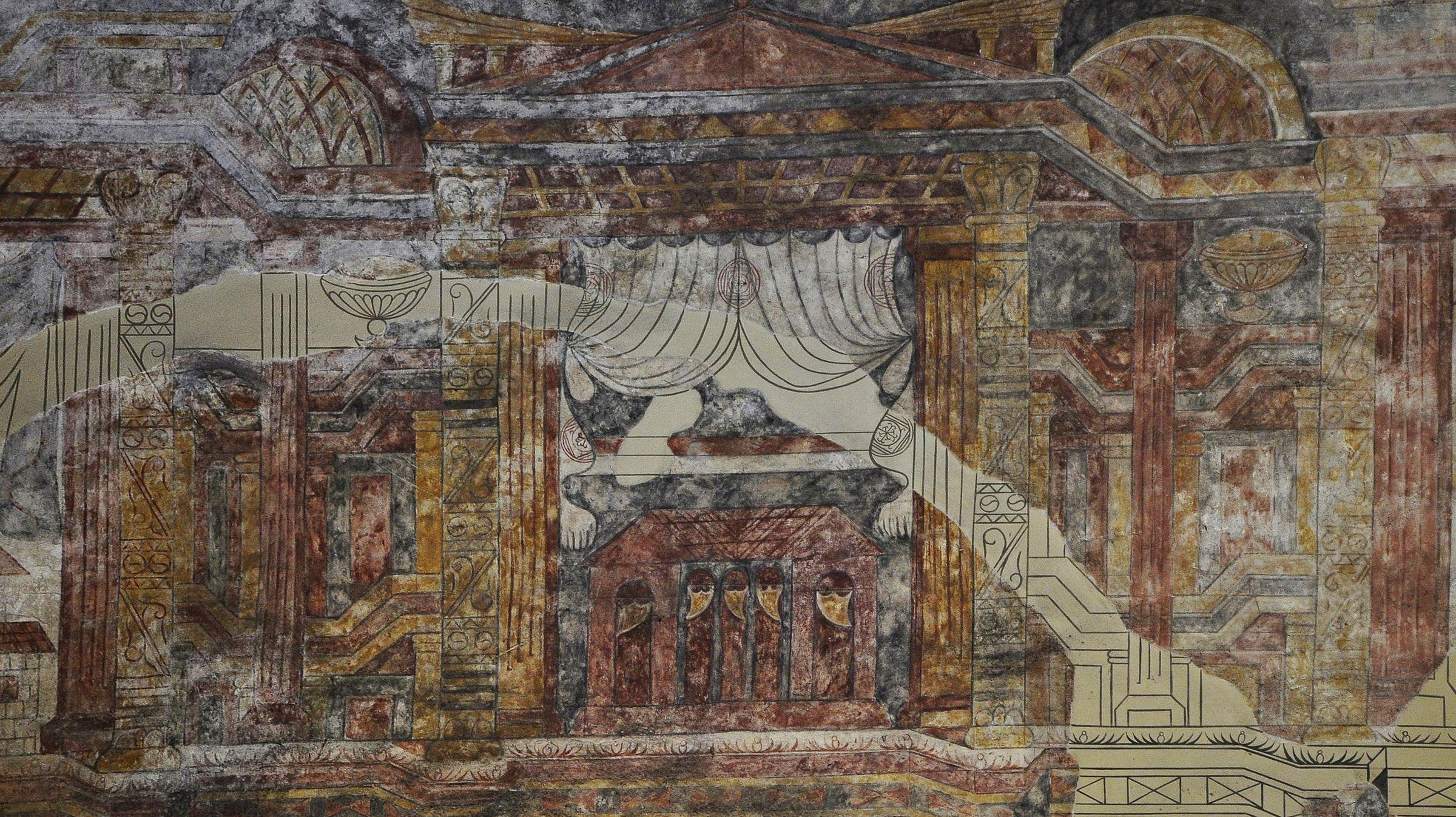 Pinturas en Santullano