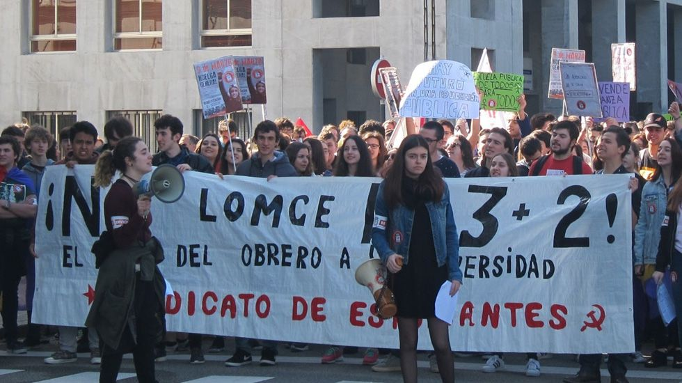 Manifestación del Sindicato de Estudiantes en Oviedo