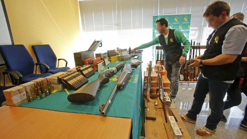 Desmantelado en Tomiño un taller ilegal de armas