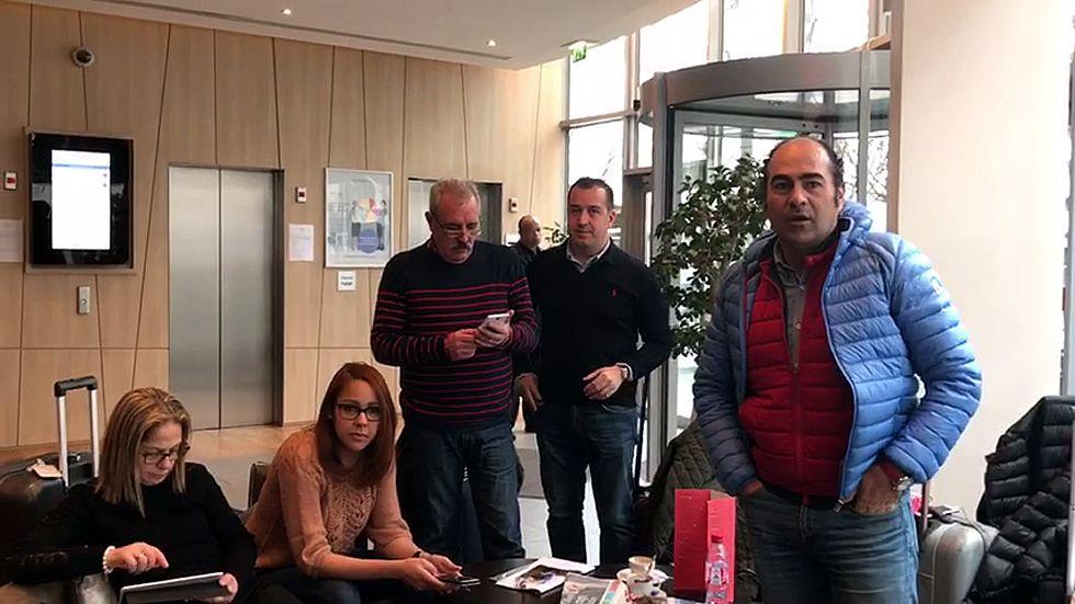 Gallegos atrapados en París