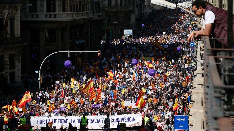Manifestación contra el independentismo en Barcelona
