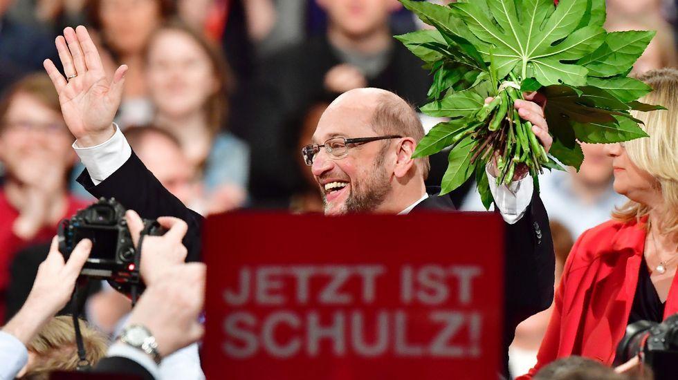 Schulz, exultante