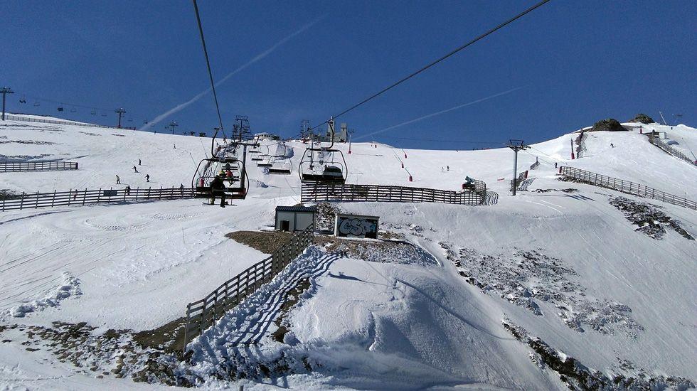 Remonte en la estación de esquí de Valgrande-Pajares