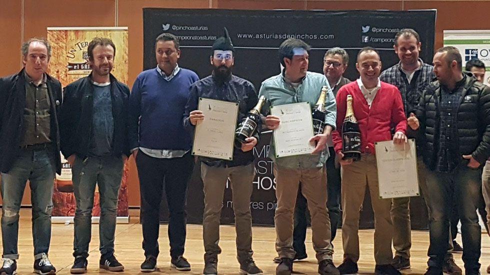 Los tres ganadores del concurso regional de pinchos