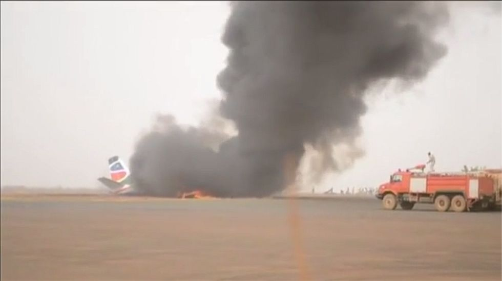 Decenas de heridos en un accidente de avión en Sudán del Sur