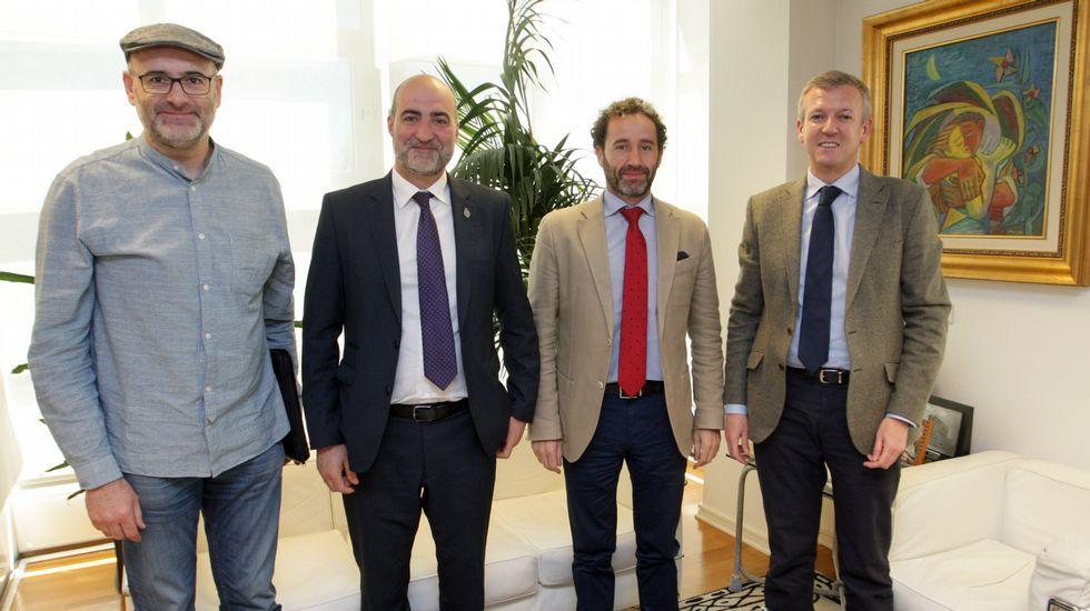 Los alcaldes de Viana, Celanova y Trives estuvieron con Alfonso Rueda