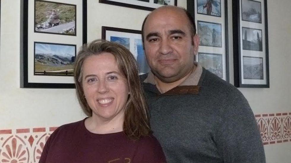 Rosa Sánchez y su marido, Juan Carlos Aguado