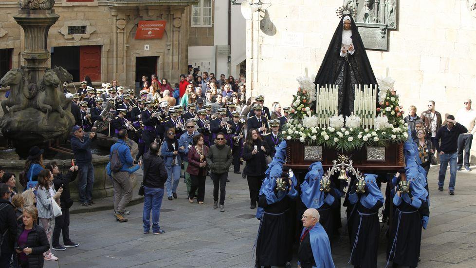 Procesión del Cristo Resucitado en Santiago