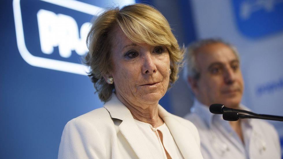 Esperanza Aguirre guarda silencio sobre la detención de Ignacio González en la Operación Lezo