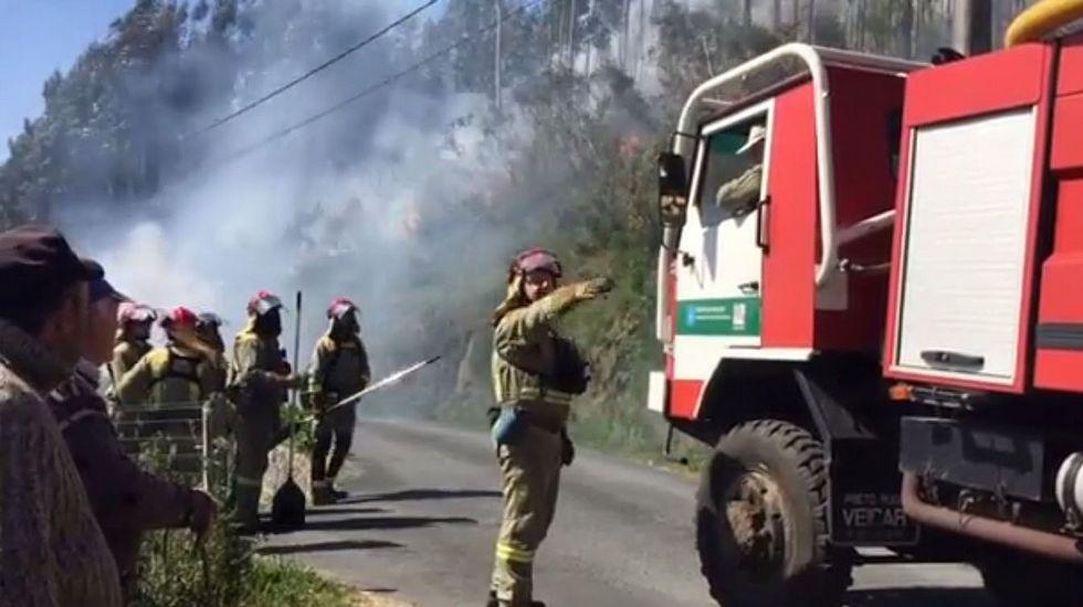 Arden más de 140 hectáreas en varios fuegos registrados en la provincia de A Coruña