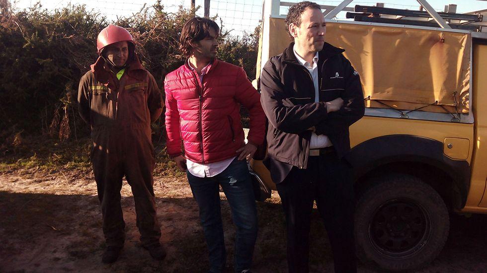 Guillermo Martínez sigue la evolución de los incendios en Llanes