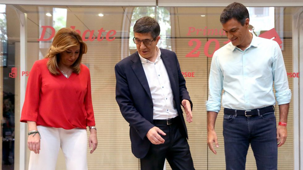 Diálogo sin concesiones en un debate bronco y tenso entre los candidatos del PSOE