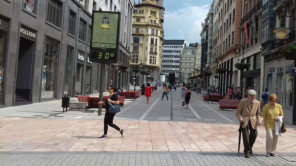 El calor en Oviedo superó los 30 grados