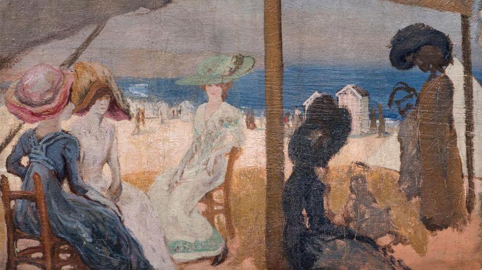 Fragmento de «En la playa» (1905), de Evaristo Valle