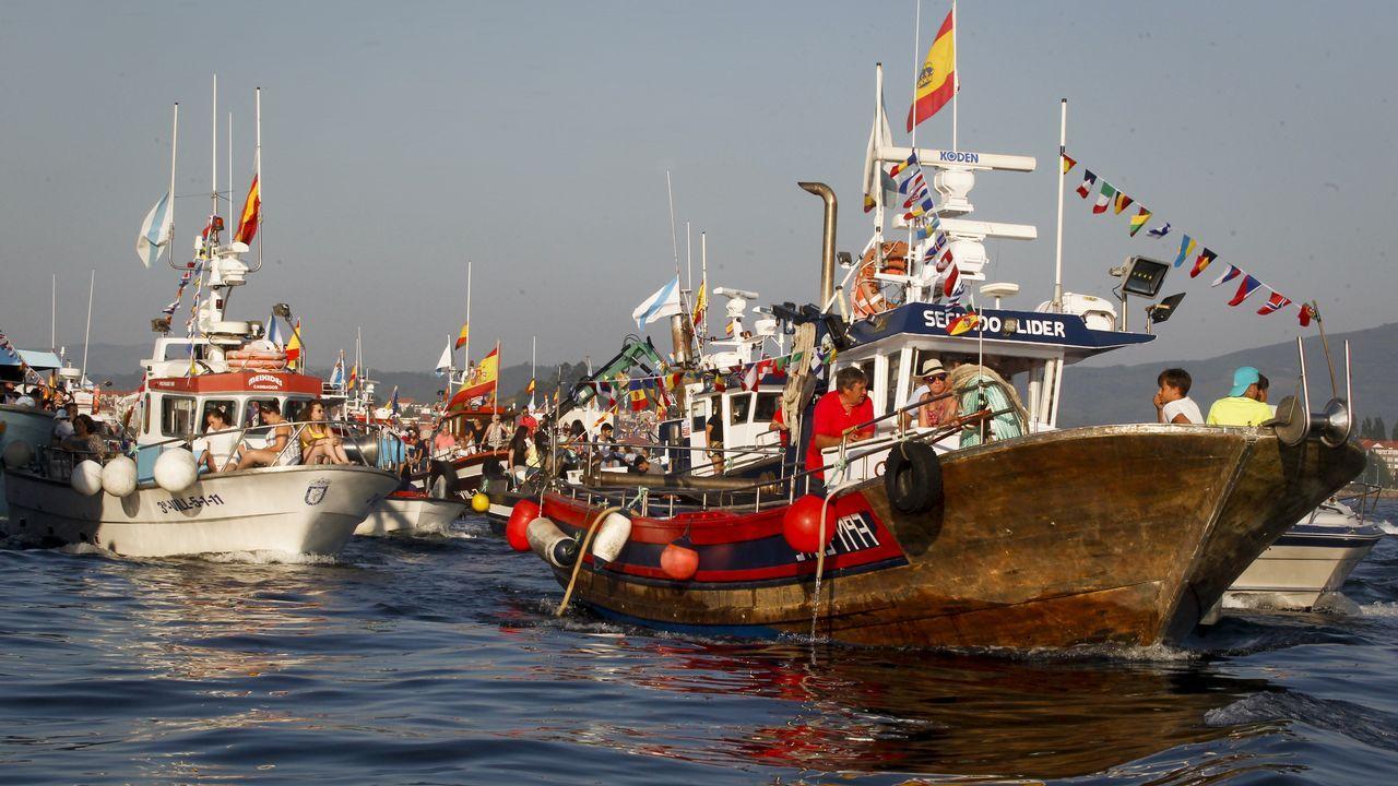 La Galicia marinera homenajea a su patrona