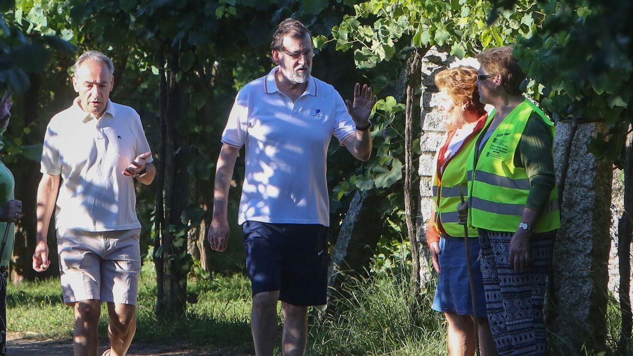 Rajoy en Ribadumia: «No puede haber un referendo, aquí rige la ley»