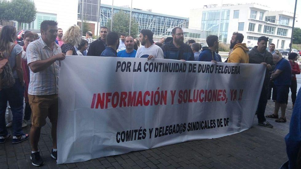 Protesta de los trabajadores de Duro Felguera