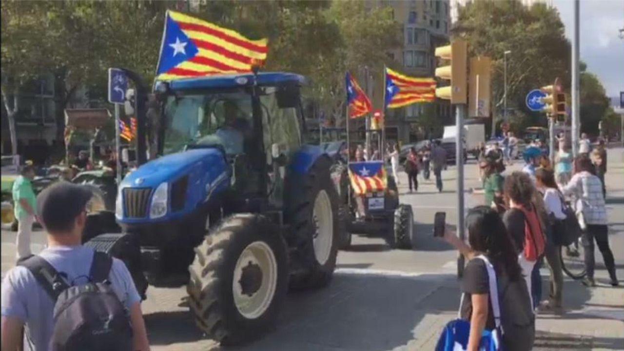 Los tractores toman posiciones en la Ciudadela