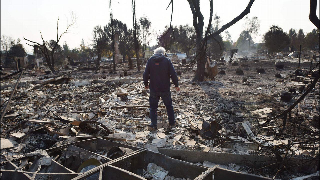 La destrucción de los incendios en California, desde el aire