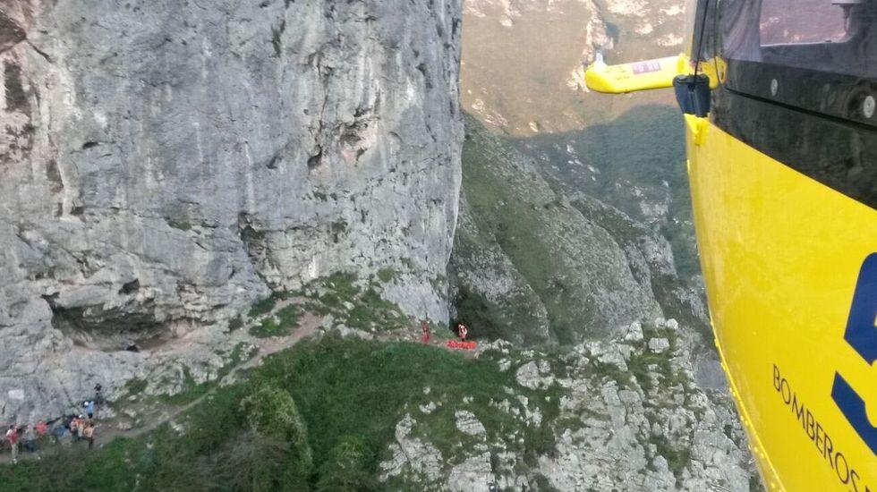 Rescate de montaña en Morcín