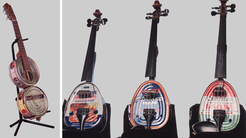 Guitarra dulce y latines o violines de lata
