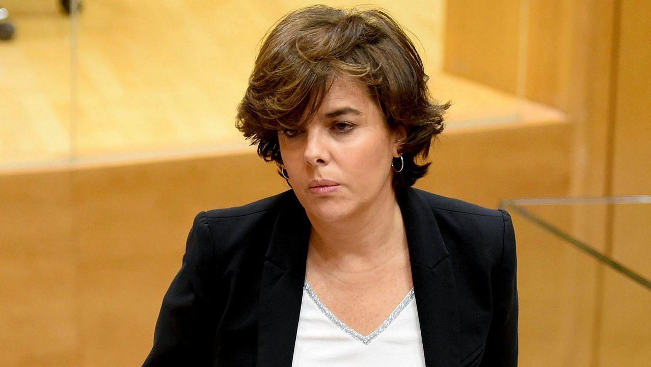 Sáenz de Santamaría: «Es nuestra obligación legal aplicar el artículo 155»