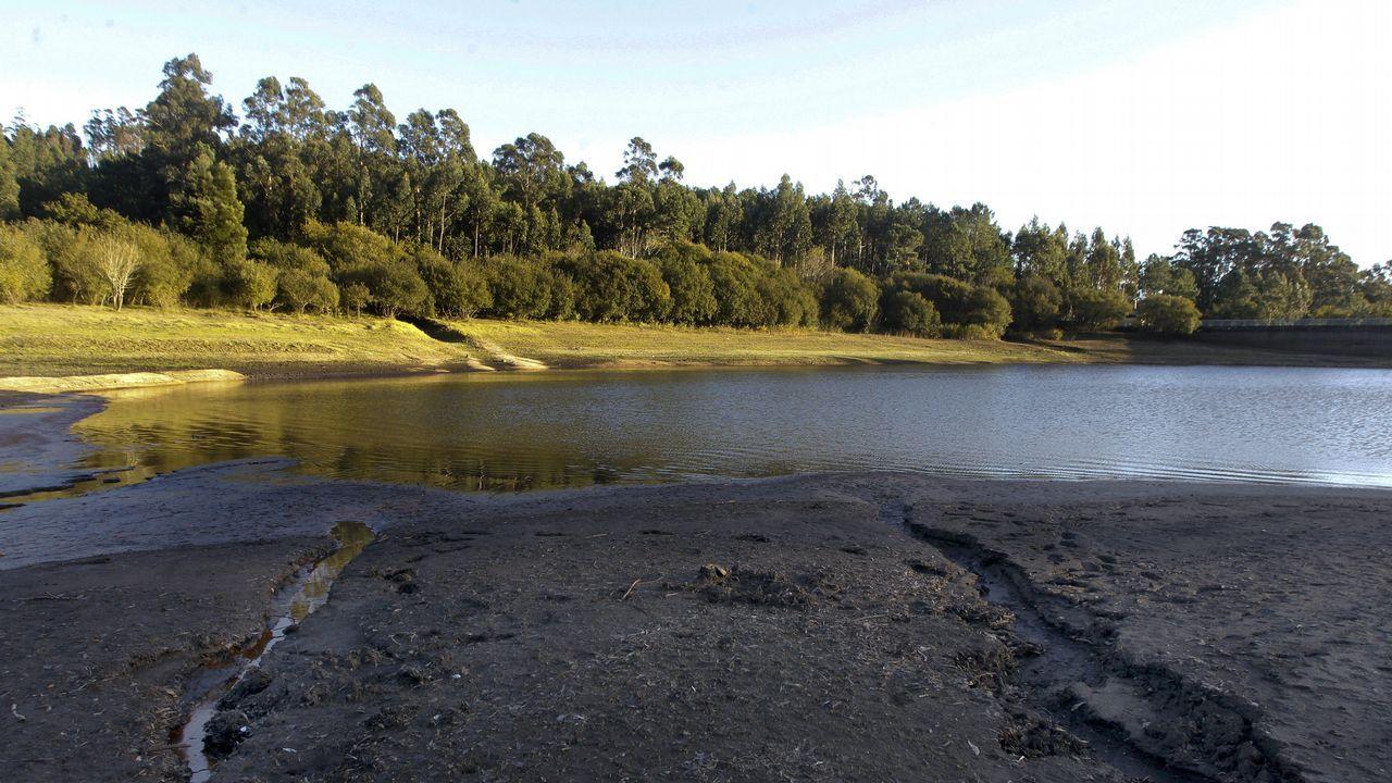 Sequía, embalse de O Con en Vilagarcía