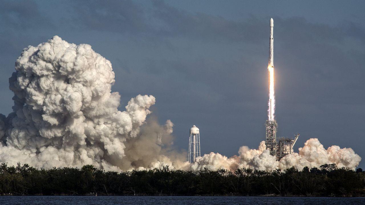 Así fue el lanzamiento del «Falcon Heavy»