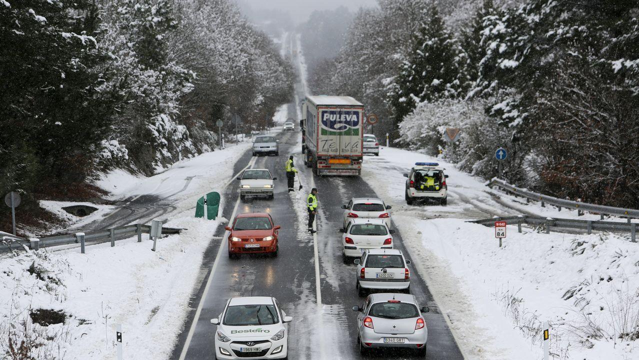 Los efectos del corredor de aire polar en Galicia