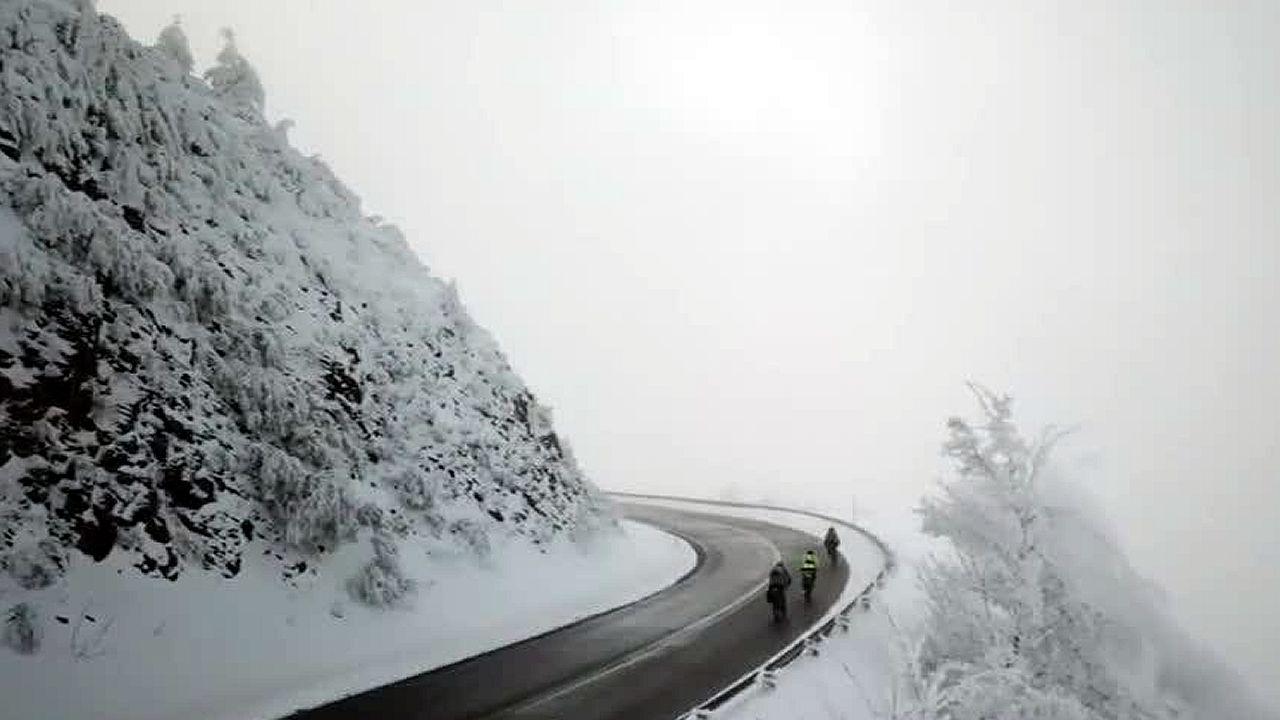 La nevada en Galicia a vista de dron