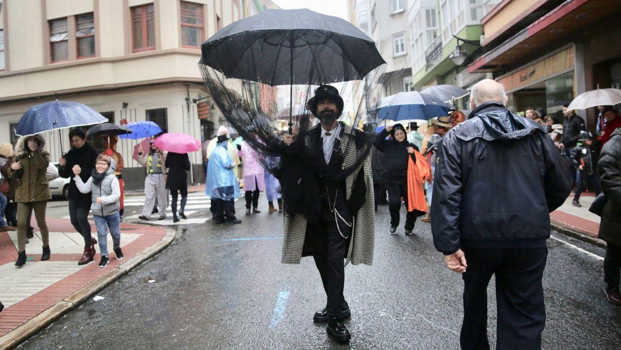 Los choqueiros le plantaron cara a la lluvia