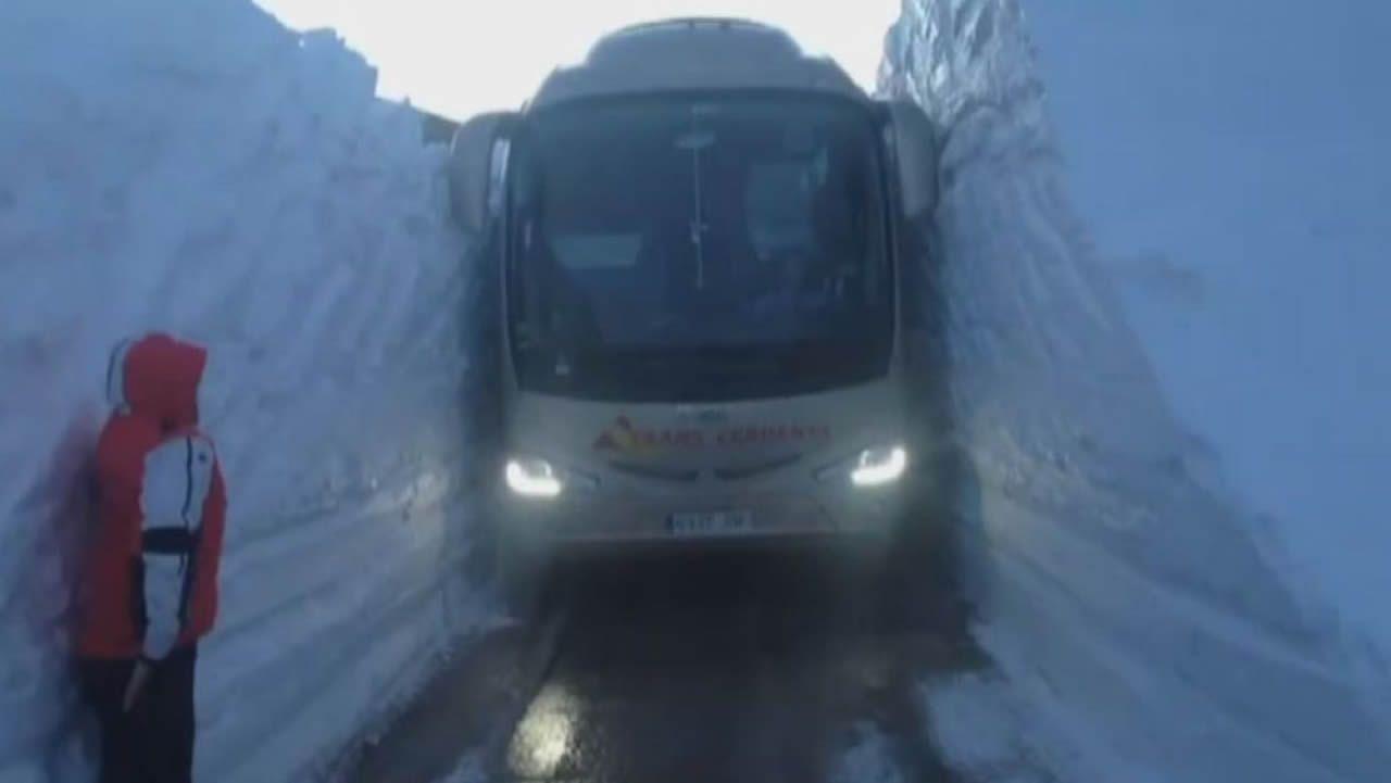 Maniobra imposible en la nieve
