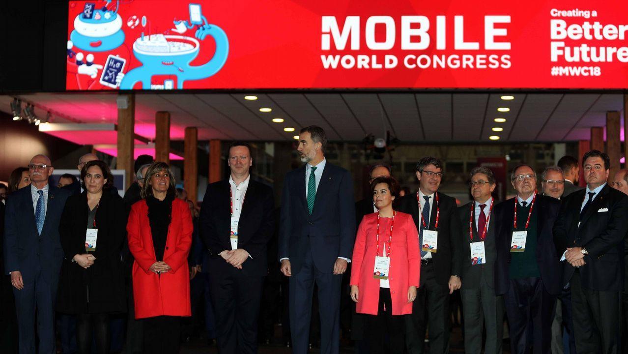 Felipe VI llega al Mobile Congress rodeado de expectación