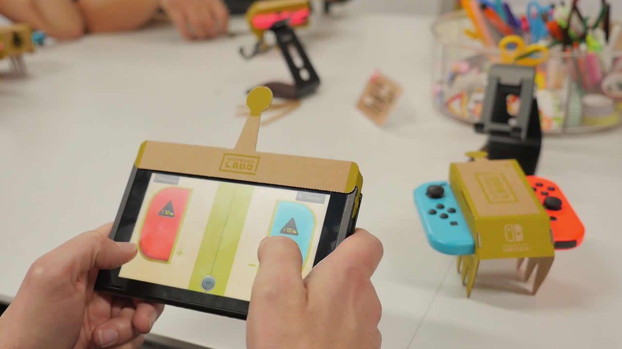 Nintendo Labo: el videojuego sale de la pantalla usando accesorios de cartón