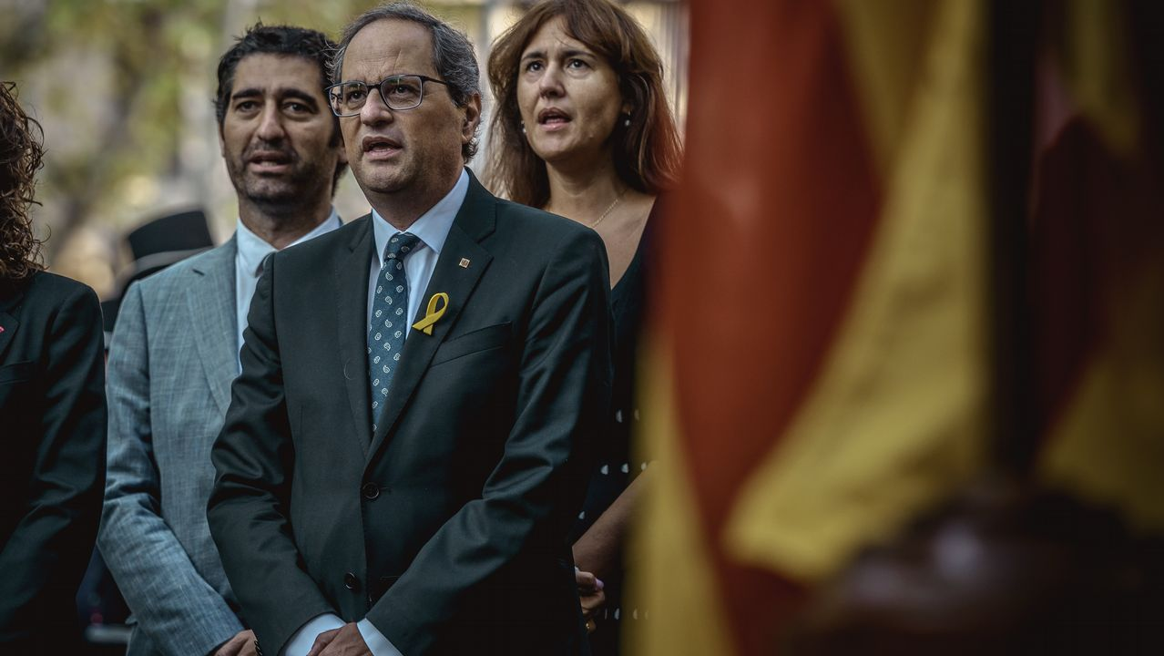 Comienzan los actos de la Diada con la ofrenda floral al monumento a Rafael Casanova